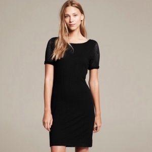 NEW $110 Banana Republic Knit Perforate Mesh Dress